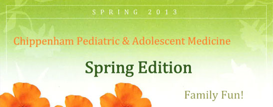 Commonwealth Pediatrics' Spring 2013 Newsletter