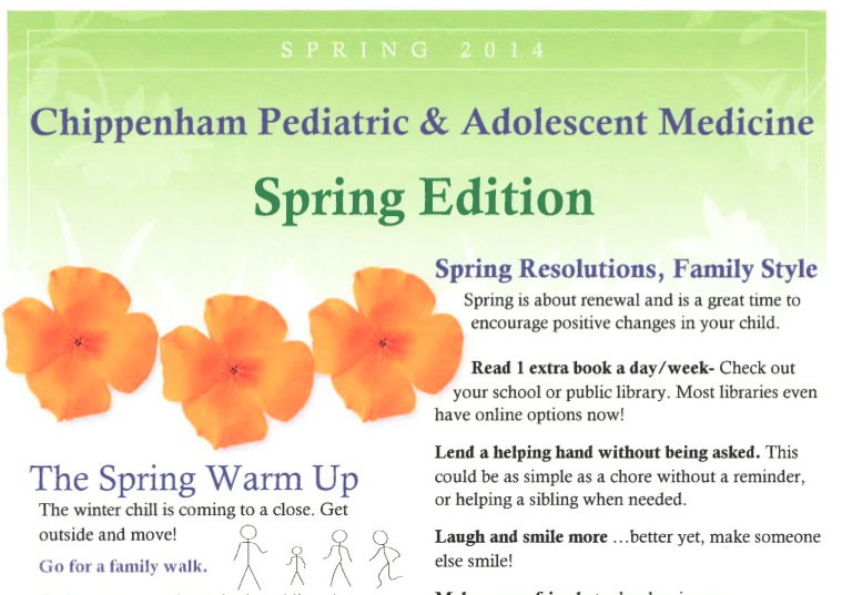 Commonwealth Pediatrics' Spring 2014 Newsletter